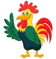 Cute rooster cartoon waving vector image vector image