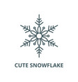 cute snowflake line icon cute snowflake vector image vector image
