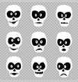 day of the dead masks set vector image vector image