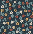 Decorative seamless pattern with flowers and vector image vector image