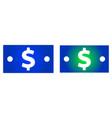 dollar bill icon vector image vector image