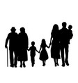 family silhouettes grandparents father mother and vector image vector image