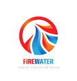 fire water waves logo template design element vector image vector image