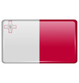 Flags Malta in the form of a magnet on vector image vector image