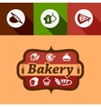 flat bakery design elements vector image vector image
