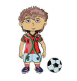 Football Player with Soccer Ball vector image vector image