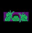 frankenstein halloween party vector image vector image