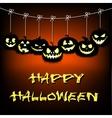Garland of pumpkins halloween vector image vector image