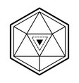 geometric figure icon vector image vector image