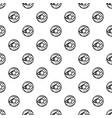 glazed donut pattern vector image vector image