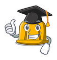 graduation construction helmet character cartoon vector image