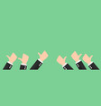 group of thumbs up icon for business banner design vector image vector image
