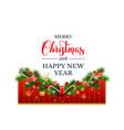 happy christmas decor vector image vector image