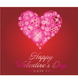 Happy valentines day art vector image