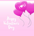 happy valentines day concept holiday celebration vector image