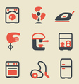 Home appliances icon set vector image vector image