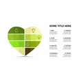 infographic template heart symbol vector image vector image