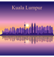 Kuala Lumpur silhouette on sunset background vector image vector image