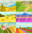 landscape landscaping countryside of vector image
