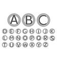 Letter symbol in circle set