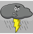 lightning cloud vector image