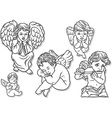 Little Angel Set vector image vector image