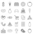 meat section icons set outline style vector image vector image
