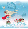 mermaid sweet new year color vector image vector image