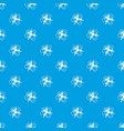 molecule connection pattern seamless blue vector image vector image