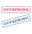 offspring textile stamps vector image vector image