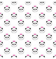 panda with bamboo vector image vector image