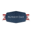 Patriot Day Text on Banner with Ribbon vector image vector image
