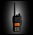 Police radio vector image vector image