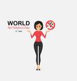 pretty woman and quit tobacco logo design vector image