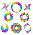 rainbow logo set for your design vector image vector image