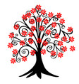 red blossom tree vector image vector image