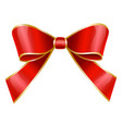 red ribbon bow used for decoration gifts vector image vector image
