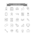 resume icons vector image vector image