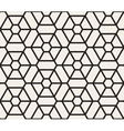 Seamless Black and White Lines Grid Pattern vector image vector image