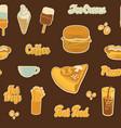 seamless pattern on theme fast food menu vector image