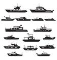 set icons motor yachts vector image vector image