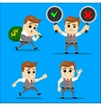 Set of businessman cartoon - vector image vector image