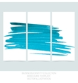 Set of three banners posters abstract headers vector image vector image