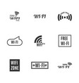 set of wireless icons vector image vector image