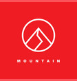 simple mountain icon with linear style vector image vector image