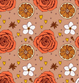 Sketch floral ans spices pattern vector image