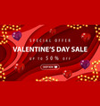 special offer valentines day sale up to 50 off vector image
