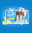 tickets season sale travel offer template vector image vector image
