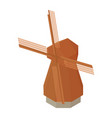 traditional rural windmill vector image vector image