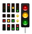 Traffic Lights Icon Set vector image vector image